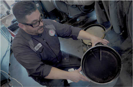 Inspecting the DPF